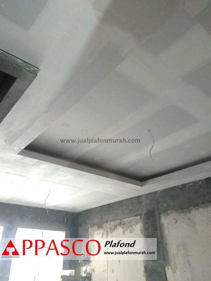 Atap Plafon Minimalis Model Baki dari GRC untuk Ruang Tengah Rumah