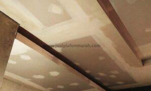 Atap Plafon Model Konvensional Datar dari Bahan Triplek dan Gypsum Untuk Ruang Tengah dan Ceiling