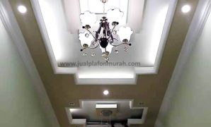 Atap Plafon Model Modern Mewah Baki Dengan Ceiling dan Pencahayaan Lampu yang Bagus