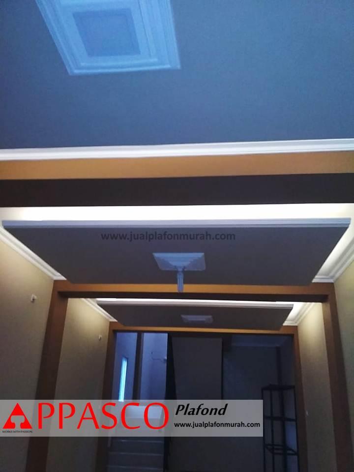 Desain Plafon Model Grid dari GRC ceiling Pencahayaan Remang-remang