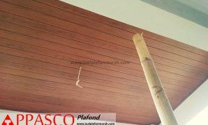 Plafon GRC Motif Kayu Untuk Teras Depan Rumah Minimalis