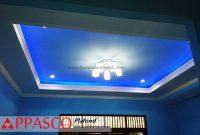Plafon Gypsum dan Triplek Model Baki Minimalis dengan Cahaya Ceiling Lampu Keren Untuk Ruang Tamu