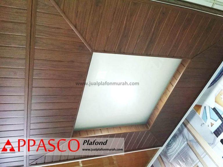 Plafon Minimalis Kayu Model Baki Untuk Ruang Tamu