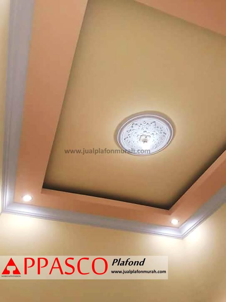 Plafon Rumah Minimalis Warna Kren Kuning Model Baki dari GRC
