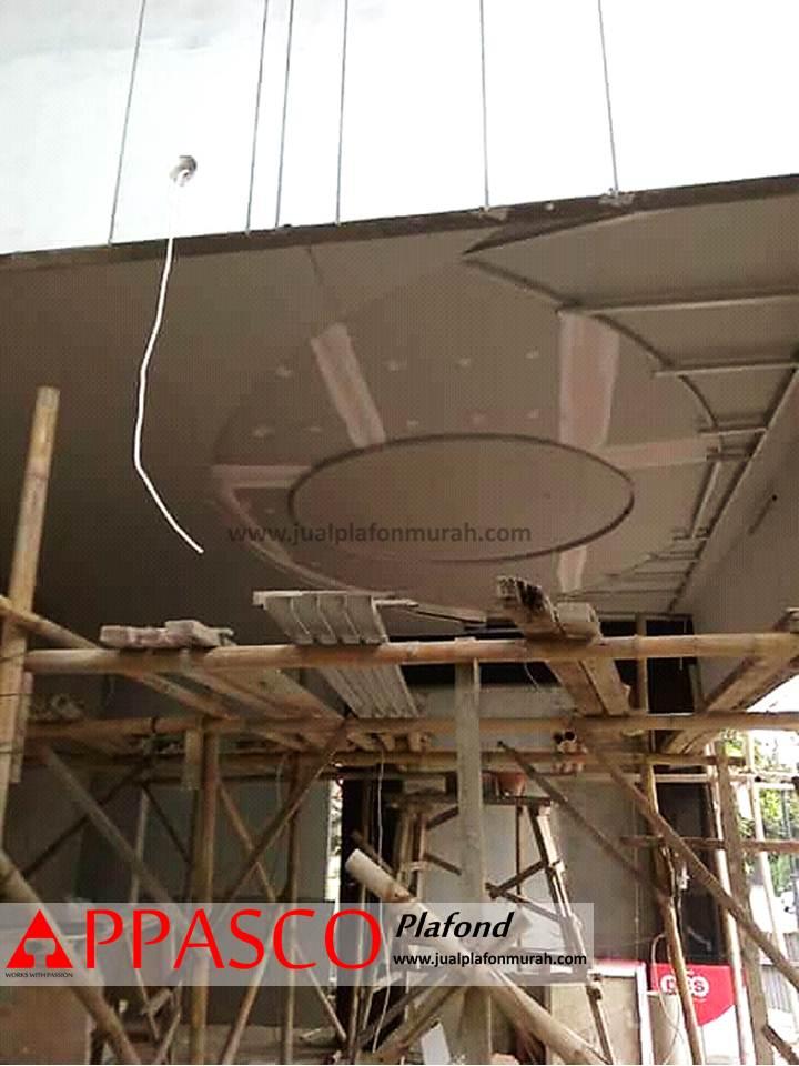 Proses Pengerjaan Atap Plafon Garasi Mobil dengan Bahan GRC