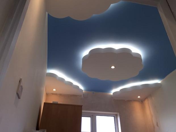 plafon berbentuk awan